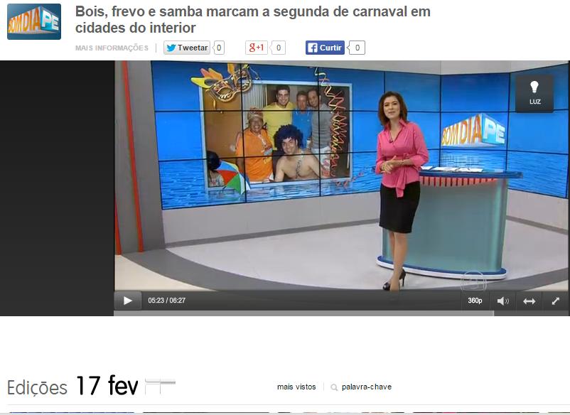 Foto Da Blogueira Saiu No Bom Dia Pernambuco Desta Terça