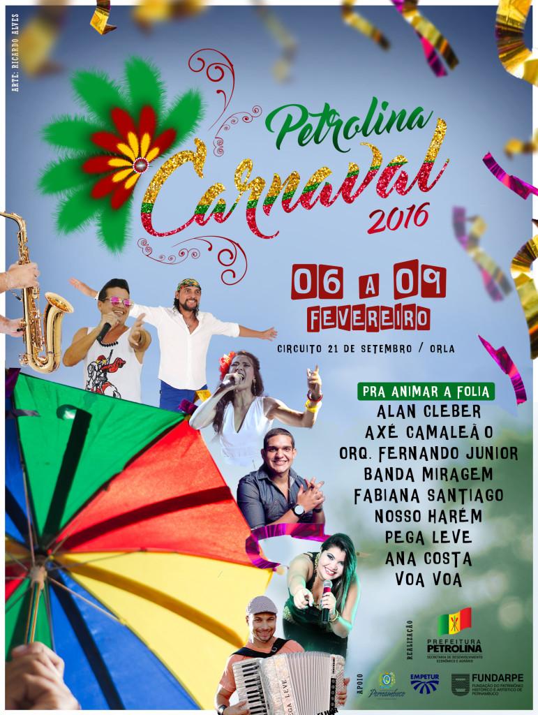 ARTE CARTAZ CARNAVAL 2016
