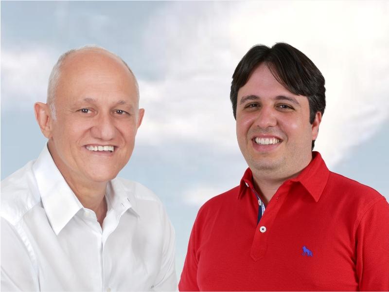 Resultado de imagem para prefeito marcilio e o seu vice pedro caldas